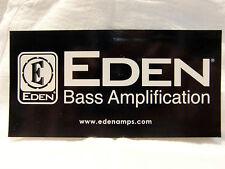 EDEN BASS AMPIFIER DECAL STICKER CASE RACK AMP BUMPER STICKER DECAL BLACK WHITE