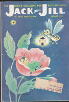 Jack and Jill Magazine Wilmer Wickham Insect in Flower Cover  August 1959