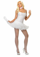 Sexy White and Pink Anime Kitty Cat Costume Accessory Set w Ears, Collar & Tail