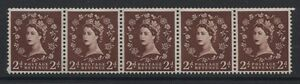 """G.B.- 1955/58 WILDING 2d """"RETOUCHED LEFT 2"""" VARIETY MNH SG.S37m   (REF.A14)"""