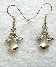 Dangle earrings - lovely silver colour angels