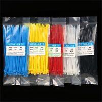 100x / bag 3X150MM hochwertige selbstsichernde mehrfarbige Nylon Kabelbinde ~.