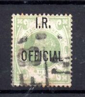 GB QV 1889 1/- green I.R. Official fine used SG015 WS19615