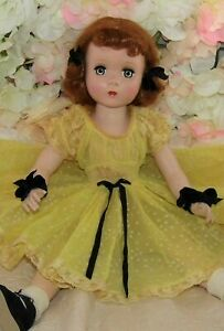 """VINTAGE 1950's 18"""" MAGGIE Madame ALEXANDER Hard Plastic doll red head beauty"""