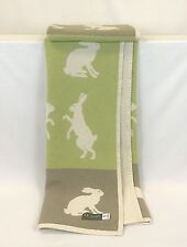 Pure Cotton Throw, Blanket, Hare, Rabbit, Natural