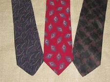 Lot of 3 THREE Mens GIORGIO ARMANI Italian Silk Ties Necktie Neckwear