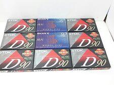 2 Sony Hi Fi & 7 TDk IECI Normal Bias 90 min. Blank Cassette Tapes NEW