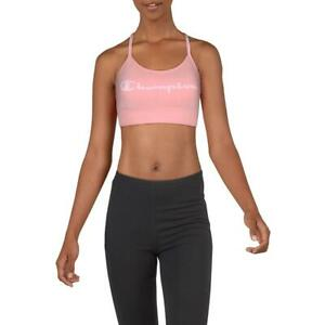 Champion Womens The Heritage Pink Low Impact Sports Bra Athletic L BHFO 1675