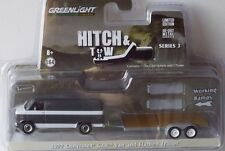Greenlight 1:64 - 1977 Chevrolet G20 Van and Flatbed Trailer - Hitch .. OVP -