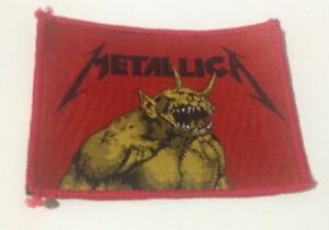 Metallica Jump In The Fire vintage 1980s SEW ON PATCH