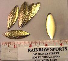 10 Worm Harness Spinner Bait Blade Willow Leaf #4 Hammered Brass Walleye