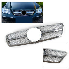 1X Front Grille Bumper Hood Grill for BENZ C63 C230 C240 C240 W203 01-07 Chrome