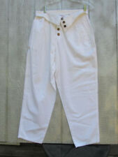 Vtg White Avon Flip Top High Wasted Pants Jeans 11 12 Baggy