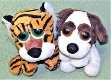 Russ LIL PEEPERS TUFFLEY Tiger DIXIE Dog Plush Stuffed Animals BIG EYES Plushie