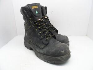 DAKOTA Men's 8'' 877 Steel Toe Steel Plate Work Boots Black/Yellow Size 12M