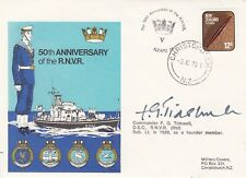 50th Anniv of the RNVR Signed by Commander F G Tidswell DSC . NZ Navy Cover  3 J