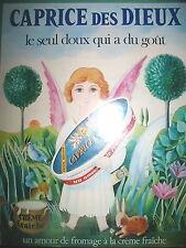 PUBLICITE DE PRESSE CAPRICE DES DIEUX FROMAGE A LA CREME FRAICHE FRENCH AD 1971