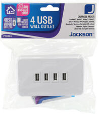 Jackson PT9804 4 OUTLET USB CHARGING WALL PLATE - 3.1A