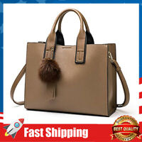 Women's Medium Purse in PU Leather Top Handles Handbag Shoulder Bag with Strap