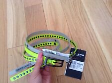 BNWT 100% auth DKNY Set Of 2 DNA Belts, Yellow & Grey. S RRP £95