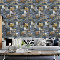 3D Wallpaper Brick Stone Rustic Effect Self-adhesive Wall Sticker Home Decal New