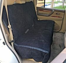 """Car Back Seat Bench Cover - Heavy Micro Velvet and Padded - 56"""" Wide Black"""