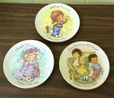 "Vtg Lot Of 3 Avon Mothers Day 5"" Porcelain Decorative Plates Gold Trim"