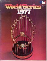 1977 World Series program Los Angeles Dodgers vs. New York Yankees unscored ~ Gd