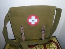 Medic Canvas Military Bag Red Cross Vintage Shoulder Crossbody Messenger