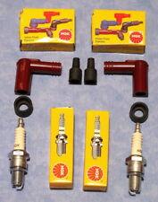 YAMAHA RD250 EF /RD400 E/F SEVENTIES BIKES   /NGK B9ES SPARK PLUGS/ CAPS/PAIR