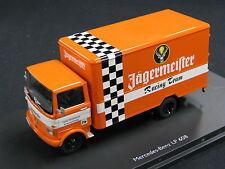 """Schuco Mercedes-Benz LP608 Kasten 1:43 """"Jägermeister Racing Team"""" (JS)"""