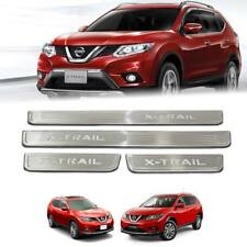 SCUFF PLATE SILL DOOR STEP WITH LED CHROME FIT FOR NISSAN X-TRAIL 2015 16 17