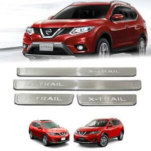 FIT NISSAN X-TRAIL 15-16-17-18-20 SCUFF PLATE SILL DOOR STEP WITH LED CHROME SET