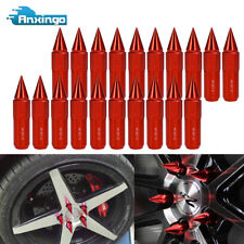 20 X Red M12X1.5 Extended Tuner Spiked Lug Nuts 60mm Wheels / Rims For Honda