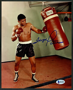 FLOYD PATTERSON CERTIFIED AUTHENTIC AUTOGRAPHED SIGNED 8X10 PHOTO BECKETT 153166