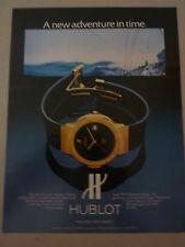 ADVERTISING PUBBLICITA' OROLOGI HUBLOT GENEVE  -- 1983