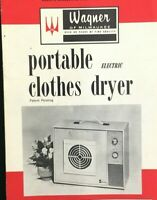 Vintage Wagner Portable Electric Clothes Dryer Manual Instruction Booklet