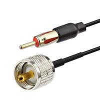 DIN male to motorola PL259 UHF plug Car Antenna AM FM Radio Adapter 5FT Cable