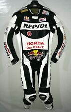 Motorcycle repsol Racing Leather Suit-MotoGp-CE Approved Protectors