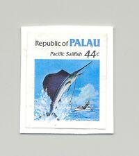 Palau #79 Sailfish, Fish 1v Imperf Proof Mounted on Card