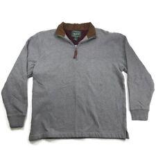 Woolrich Mens M Sweater Sweatshirt 1/4 Zip Outdoor Pullover Gray