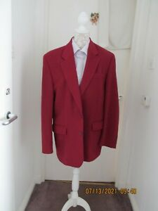 MANS BURTONS MENSWEAR WOOL AND CASHMERE JACKET BURGUNDY SIZE 42 INS CHEST