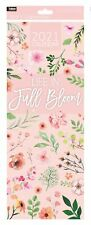 2021 Slim Month To View Spiral Bound Illustrated Wall Calendar - Full Bloom