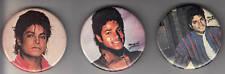 Michael Jackson Thriller Era Vintage Pins 3 Retro 80's Rare King of Pop MJ 1983