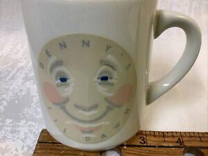Vintage Denny's Restaurant Sleepy Moon Coffee Cup Mug Til Dawn