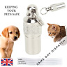Pet Dog Cat Mini ID TAG Anti Lost Name Address Label Identity Barrel Tube Collar