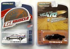 "2 x 2017 GreenLight MUSCLE & HOLLYWOOD ""Mad Max"" 1973 FORD FALCON XB V8's -mint!"