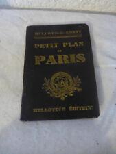 ancien petit plan de Paris Mellotee Conty editeur vintage petit guide ancien