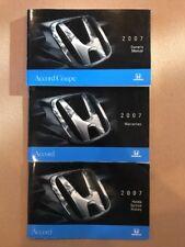 2007 Honda Accord  Coupe Owners Manual Set