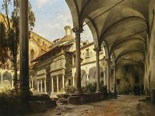 PAINTING INTERIOR STUDY GRAEB SANTA CROCE CHURCH FLORENCE ART PRINT POSTER LF504